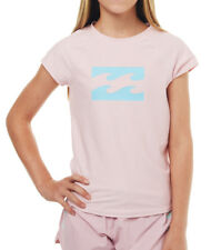NEW BILLABONG GIRLS KIDS (6) WET SHIRT RASH VEST RASHIE RIDIN WAVES RETRO PINK