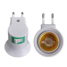 Gute Qualität!! E27 LED Licht Steckdose zum EU Typ Stecker Adapter mit Schalter