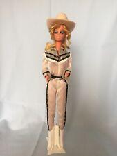 Vintage 1980 Western Barbie Winking Eye Hair Variation Hat & Boots