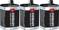 3 Eveready 1209 Zinc-Carbon Super Heavy Duty Lantern 6 Volts Batteries