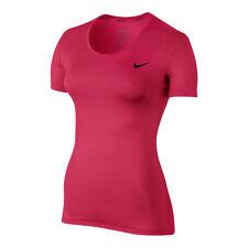 Abbigliamento sportivo da donna rosa Nike alla lunghezza della manica manica corta