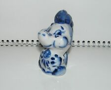 Vintage Gzhel hand painted Porcelain Figurine  DRAGON / DRACHE / DRAGON