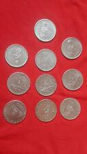 Monete argento 500 lire le cavarelle -lotto di 10 monete