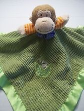 Mary Meyer Baby Lovey Security Blanket Satin ~Monkey mint green