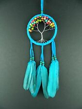 TURQUOISE TREE OF LIFE DREAM CATCHER (M) STUNNING NEW DESIGN DREAMCATCHER GIFT