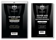 100 Silver Age Comic THICK Bags and Boards Max Archival Book Storage Acid Free