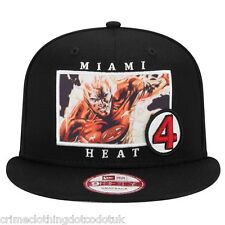 New Era nba 9 fifty Marvel homme noir snapback miami heat/la flamme