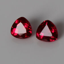 2.40 Ct Natural Red Ruby Pair Trillion Cut Mozambique Loose Gemstone Certified
