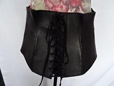 Magnifique large ceinture en cuir avec large bande liée serre-taille corset