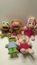 Lot of 4 Muppets Plush 2 Kermits 2 Miss Piggy's & Fozzy the Bear Toys 1987