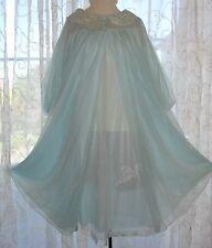 Vintage Gossard Artemis Sheer Blue Chiffon Gown Babydoll Nightgown Peignoir