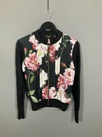 TED BAKER Cardigan - Size 1 UK8 - Floral - Great Condition - Women's