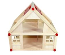 großes Puppenhaus FREDA aus Holz 40x25x38cm