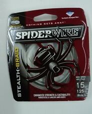 SpiderWire Stealth-Braid Fishing Line, 15#, 125 Yd, Moss Green, #SCS15G-125