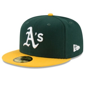 Oakland Athletics OAK MLB Authentic New Era 59FIFTY Fitted Cap - Green Yellow