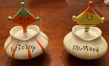 Vintage Holt Howard 1958 Pixieware Ketchup & Mustard Dishes