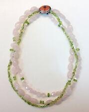 "Lilly Pulitzer ""Vintage"" 3 strands Semi-Precious Stones - Rose Quartz Necklace"