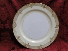 "Noritake Marcisite, 87196, Gold Flowers, Cream Band: Dinner Plate (s), 9 7/8"""