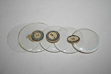Vintage Pocket Watch Glass Flat Bend Clear Retro Old Repair Watchmaker Up 47mm