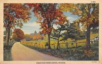 Jasper Indiana~Roadside Greetings~Cows in Pasture~Autumn Trees~1933 Linen PC