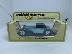 Matchbox Models of Yesteryear Y-17 1938 Hispano Suiza Blue NEW