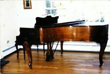 "Knabe baby grand piano 5'8"" burled walnut, Louis XVI matching bench"