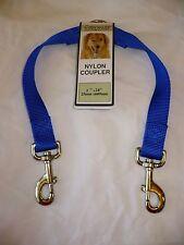 Formay 2 Way Nylon Dog Leash Coupler 1 Inch Blue 24 Inch  NEW