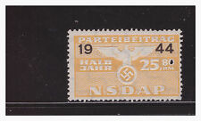 GERMAN THIRD REICH 1944 NSDAP PARTY DUES 25.80 MNH PG9