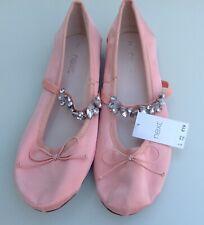 Next girls slip on lace party/ bridesmaid shoes size UK 4