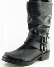 Matisse Size 8.5 M Black Mid-Calf Boots Leather Pull On Boots