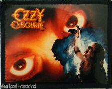 OZZY OSBOURNE Vtg Sew On/Photo Card Patch 80`s Bark At The Moon
