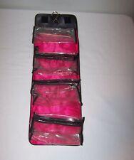 Mary Kay Black/Pink Roll Up Travel Hang Up Cosmetic Make Up Bag Removable Pocket