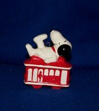 Snoopy Trolley Car Christmas Ornament San Francisco Determined 1980's Peanuts