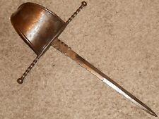 Antique 18th Century Spanish Main Gauche Left Hand Parying Dagger Knife Spain