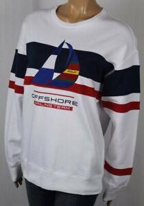 Polo Ralph Lauren White Offshore Sailing P-15 Fleece Sweatshirt NWT