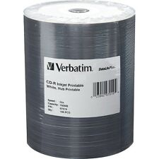 Verbatim CD-r 700MB 52x bianco Inkjet Hub stampabile 100-Pack wrap nastro