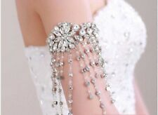 Bridal Wedding Luxury Crystal Tassel Armlet Shoulder Chain Accessory Bracelet