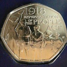 2018 REPRESENTATION OF THE PEOPLE ACT Fifty Pence 50p BUNC Sealed Certified