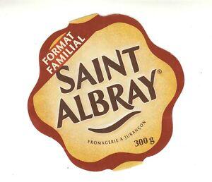 Etiquette de Fromage   Saint Albray Format Familial