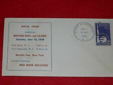 VERY RARE FDC OF ROYAL VISIT TO WORLDS FAIR 1939.POSTMARKED FORT HANCOCK. HISTOR
