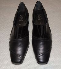 K By CLARKS BLACK LEATHER DRESS CASUAL SLIP ON SHOES SIZE UK 41/2 US 61/2-7 EUC