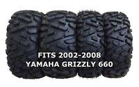 Set of 4 WANDA ATV/UTV Tires 25X8-12 25X10-12 for 2002-2008 YAMAHA GRIZZLY 660