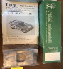 1971 Alfa 33TT3 Hezemans Vaccarella FDS No. 28 1:43 Model Kit  F1 White Metal