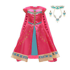 Storytime Jasmine Girls Fancy Dress Disney Princess Costume Cosplay Age 3-10