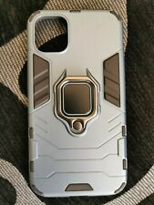 iPhone 11 Case Cover Armour Metal Car Ring Holder Soft Back Cover Finger Ring