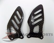 2006-2010 GSXR600 GSXR750 Rearset Foot Peg Heel Guards Mount Plate Carbon Fiber