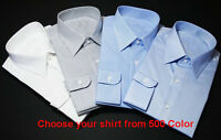 3 Custom Made to Measure Long Sleeve Business Formal Work Bespoke Dress Shirt