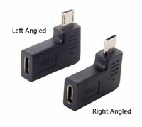 Angled Micro USB Male To Type C Female Converter Adapter For Samsung S7 Xiaomi