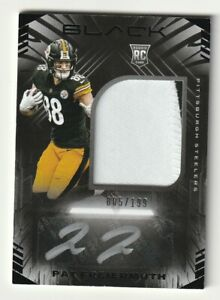 2021 Panini Black Rookie AUTO RC Pat Freiermuth RPA Patch Jersey /199 Steelers