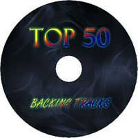 TOP 50 ROCK GUITAR BACKING TRACKS 4x AUDIO CD SET BEST OF GREATEST HITS MUSIC